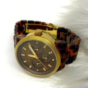 Michael Kors Tortoiseshell Jet Set Acrylic Watch